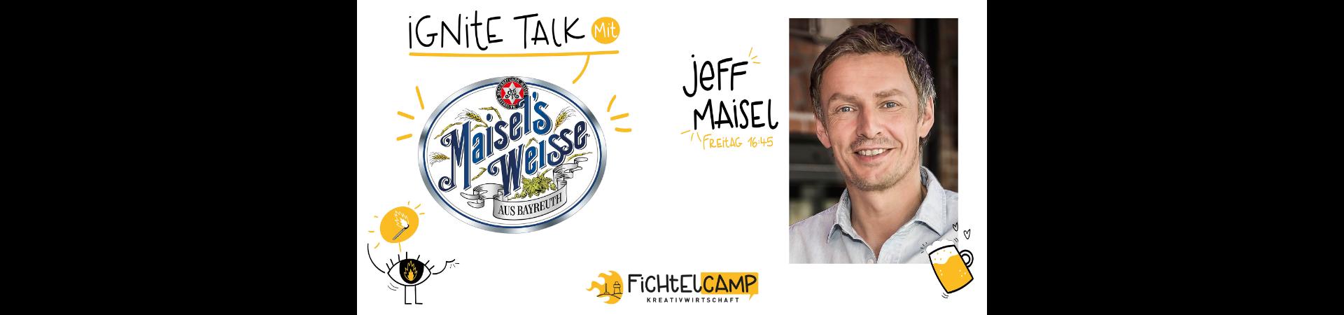 Ignite Talk mit Jeff Maisel, Inhaber der Gebr. Maisel Brauerei, Bayreuth
