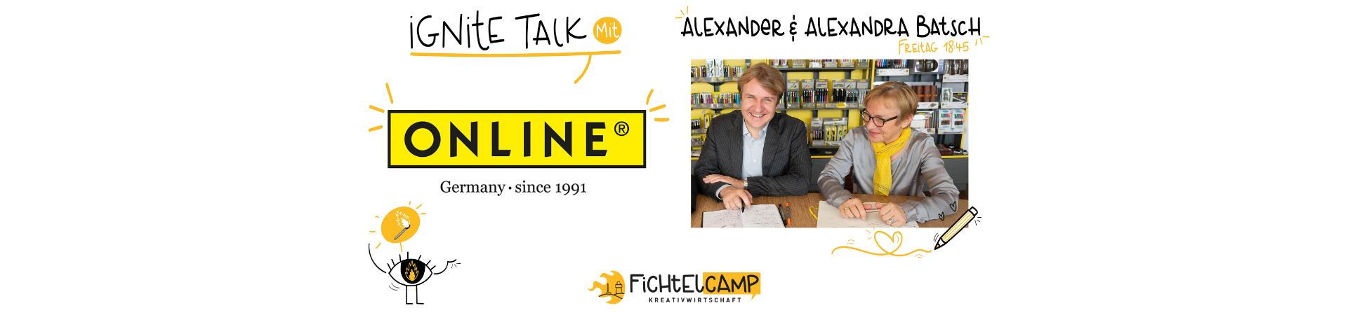 Ignite Talk mit Alexandra und Alexander Batsch, Geschäftsführende ONLINE Schreibgeräte GmbH, Neumarkt i. d. Opf.